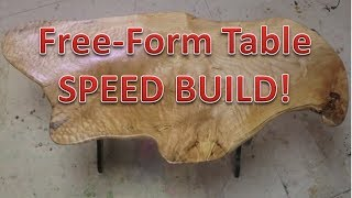 Free Form Live Edge Maple Table