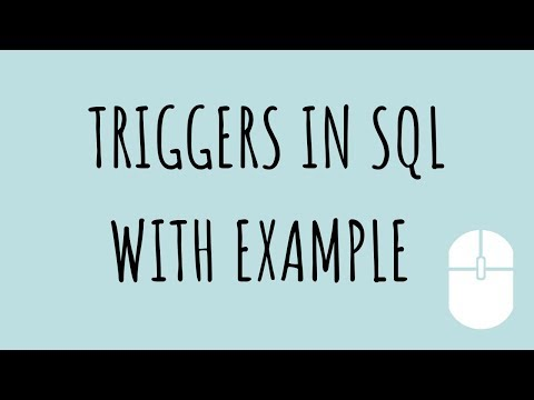 TRIGGERS IN SQL WITH EXAMPLE