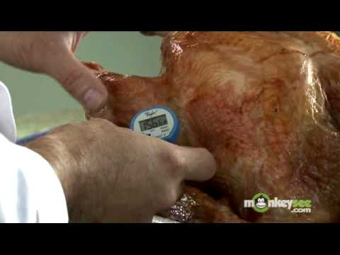 Check Final Temperature of Roasted Turkey