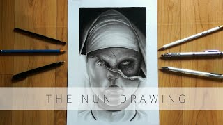 Drawing The Nun (2018) | Movie poster | Timelapse