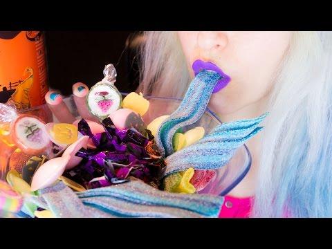 ASMR: German Halloween Candy | Sweets Popcorn Chips ~ Relaxing Eating Sounds [No Talking | Vegan] 😻