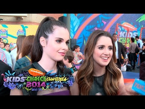 Laura and Vanessa Marano Interview Kids' Choice Awards 2014