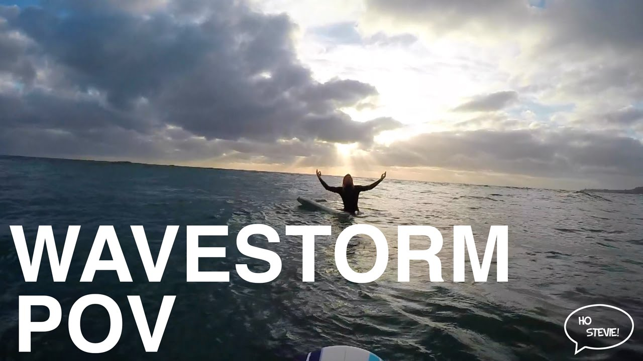 Wavestorm Surfing POV (GoPro Mouth Mount)
