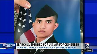 Search suspended for U.S. air force member who vanished while swimming