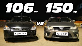 PRIORA 2 vs KIA CERATO 2.0 AT. ГОНКА!!!