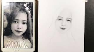 Quá Trình Vẽ Một Bức Chân Dung Chì - DP Truong