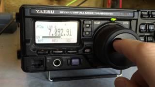Video Yaesu FT-897 Tuning 40m download MP3, 3GP, MP4, WEBM, AVI, FLV Desember 2017