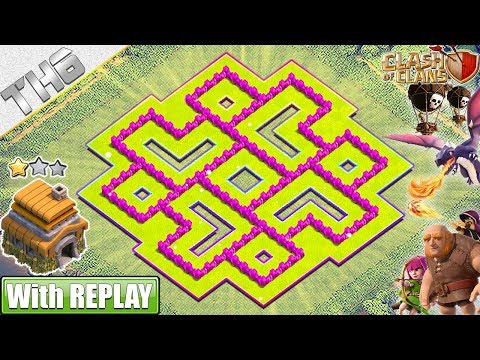 NEW BEST TH6 Base 2019 With REPLAY!! COC TH6 Trophy/War Base Layout - Clash Of Clans