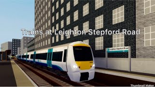 Roblox SCR | Trains At: Leighton Stepford Road