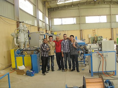 PVC wire and cable extruding machine (www.jing-one.com.cn )