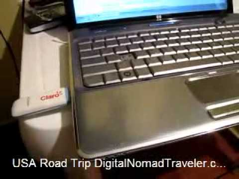 USB Wireless Internet Modem Claro and Virgin Mobile for USA Road Trip
