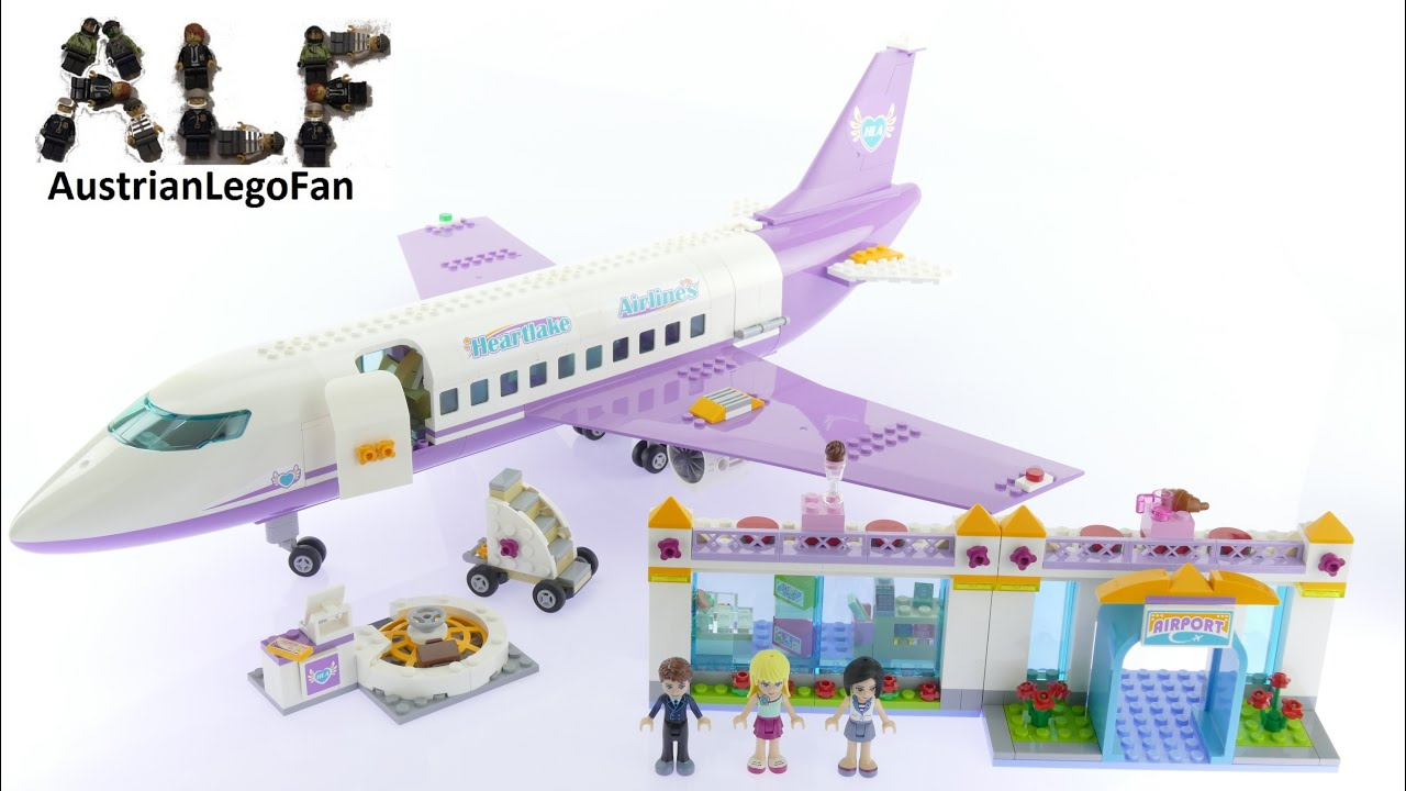 Lego Friends 41109 Heartlake Airport Lego Speed Build Review Youtube