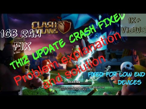 Finally Found The Solution For CoC TH12 Update Crashing Issue(100% working)