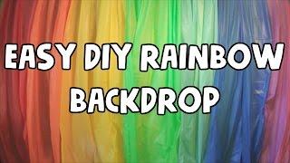 EASY DIY RAINBOW BACKDROP $8 🌈 | VEDA 11| HeathersMommyLife