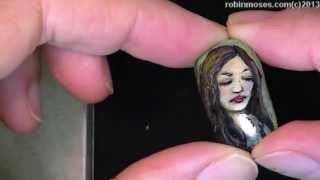 One of a kind Robin Moses nail art on Etsy