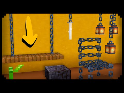 ✔ 7 Chain Furniture Ideas For New Players In Minecraft