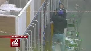 Дерзкая кража перфоратора попала на видео
