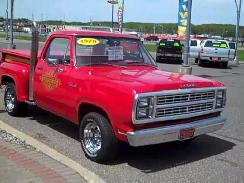 1979 Dodge Lil 39 Red Truck Express Hometown Motors Of