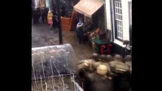 Catherine Zeta Jones - Dad's Army filming in Bridlington Old Town