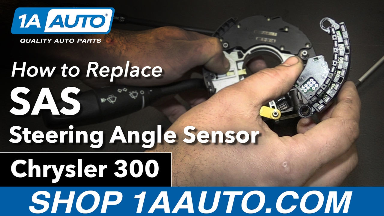 medium resolution of how to replace install steering angle sensor sas 06 chrysler 300
