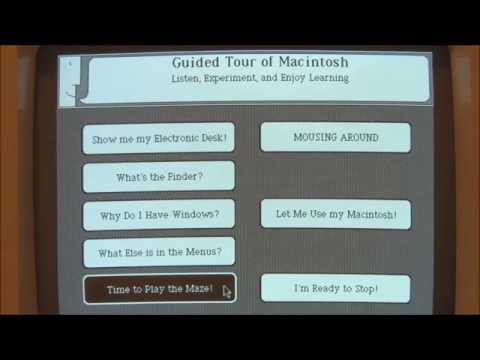 Apple Macintosh 128k (1984) Start Up and Demonstration