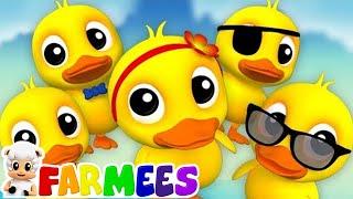 Năm con vịt nhỏ | Con vịt vần cho trẻ em | vần cho trẻ em | Five Little Ducks | Farmees Vietnam