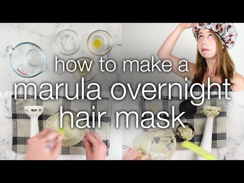 How To Make A DIY Marula Overnight Hair Mask