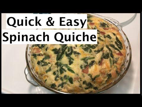 How To Make A Quick & Easy Spinach Quiche Recipe