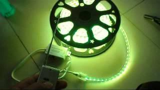 50m 110v 220v waterproof smd5050 led strip light with a rf 6 keys remote controller