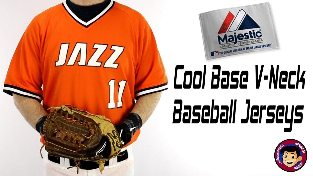 wholesale dealer 81d56 42316 Majestic Cool Base V Neck Baseball Jerseys - Homegrown Sporting Goods