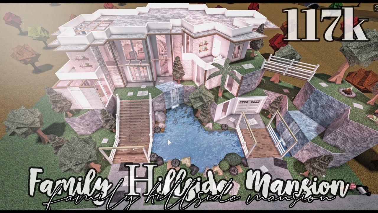 Bloxburg Family Hillside Mansion 12k No large plot