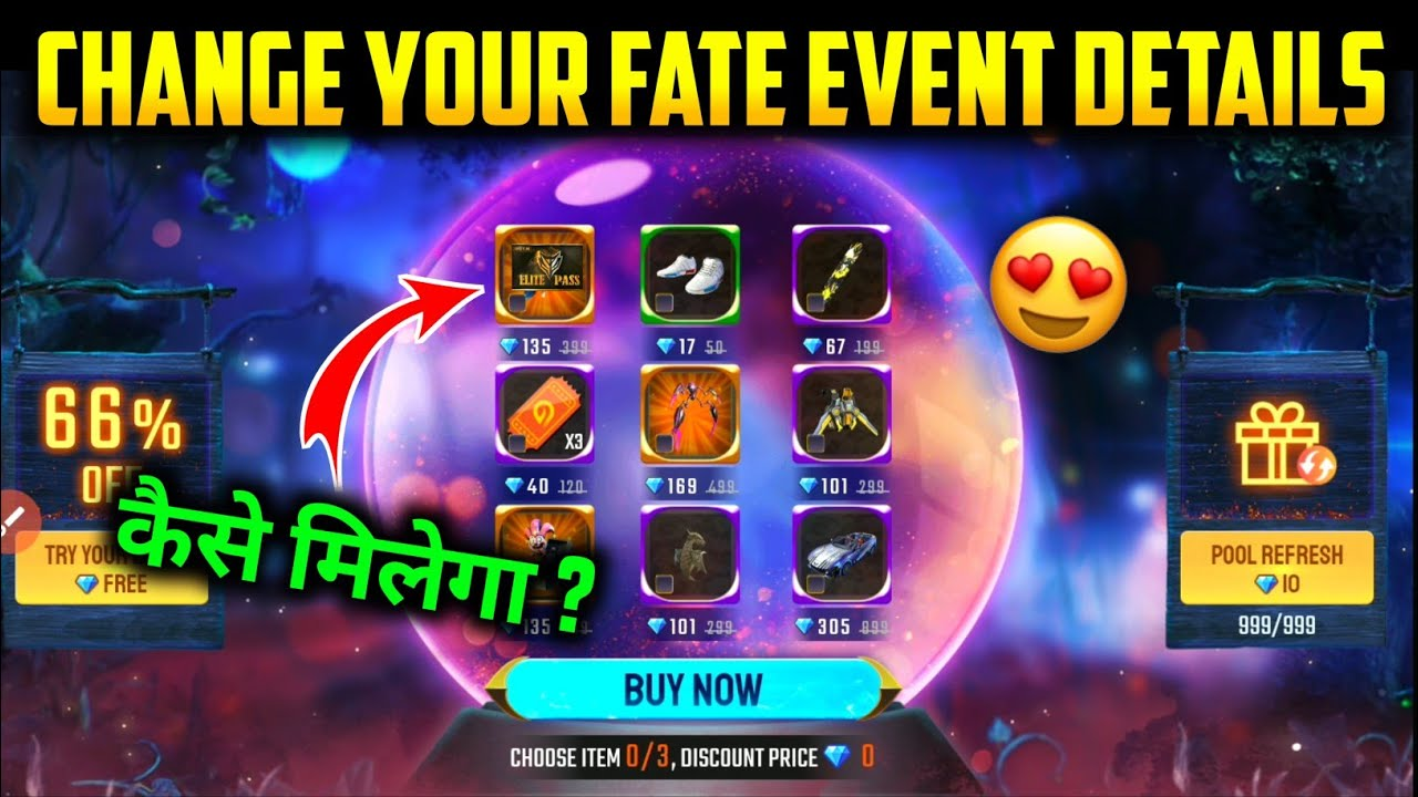CHANGE YOUR FATE NEW EVENT || FREE FIRE CHANGE YOUR FATE EVENT FULL DETAILS || HOW TO GET 80% DIS..