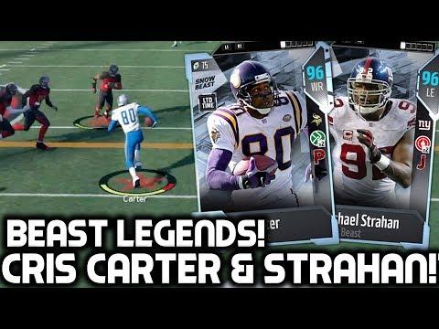 CRIS CARTER & MICHAEL STRAHAN! BEAST NEW PLAYERS! Madden 18 Ultimate Team