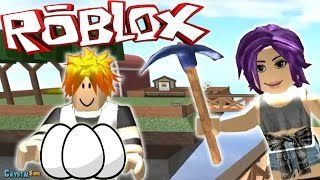 THEY WANT TO STEAL THE OVA ? SKYBLOCK ROBLOX ? CRYSTALSIMS
