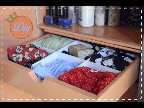 Diy como hacer un organizador de ropa interior youtube - Organizador de ropa interior ...