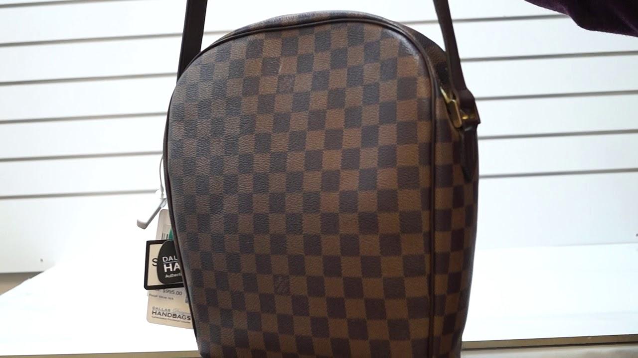 76148d84e64b LOUIS VUITTON Ipanema GM Damier Ebene Crossbody Bag Brown TT2990 ...