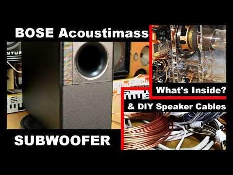 Bose Acoustimass SE5 Subwoofer & How to make DIY Speaker Cables
