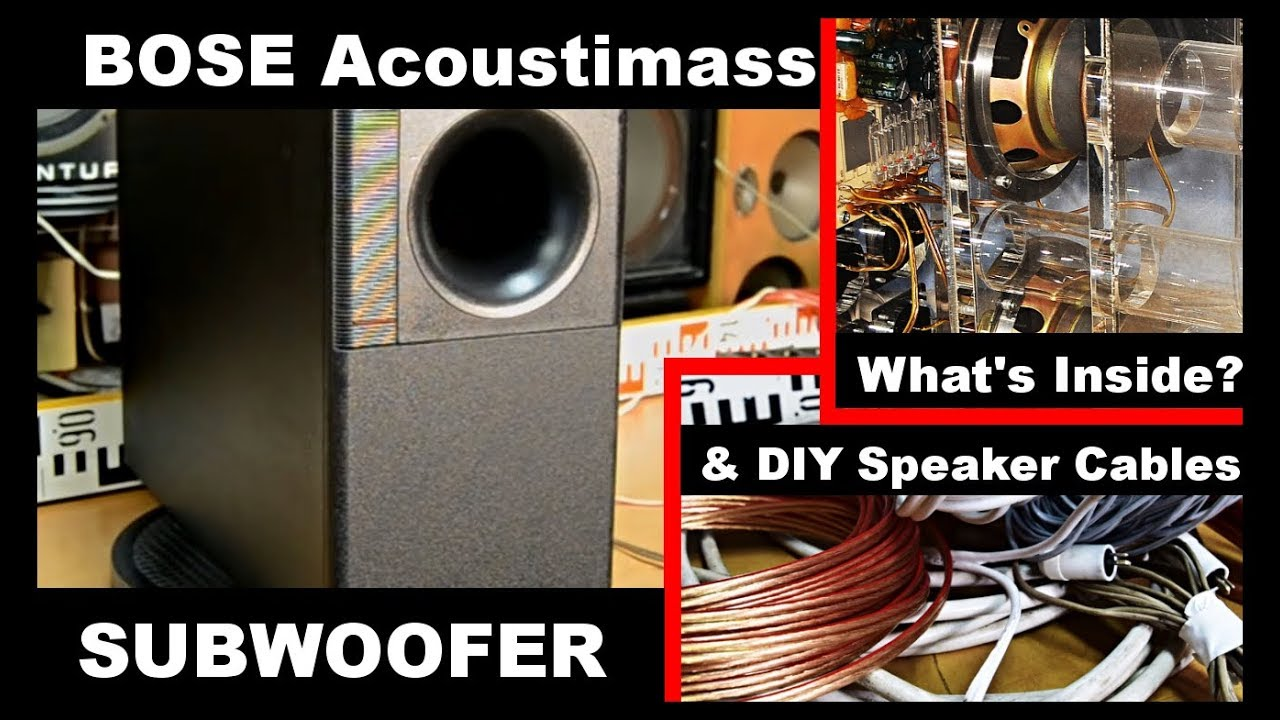 Bose Acoustim SE5 Subwoofer B Reflex Woofer Speaker & How to make DIY on