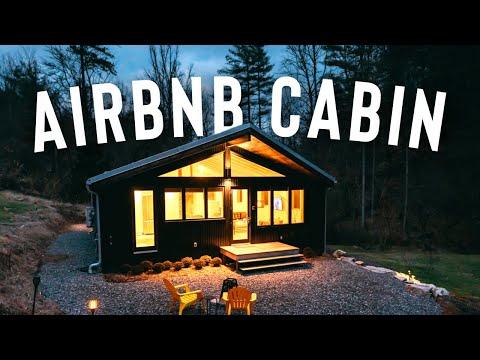 *Beautiful* AIRBNB CABIN FULL TOUR!   Romantic Cabin Getaway!
