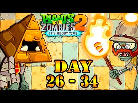 Plants Vs Zombies 2: Ancient Egypt Level 26 - 34 Gameplay Walkthrough