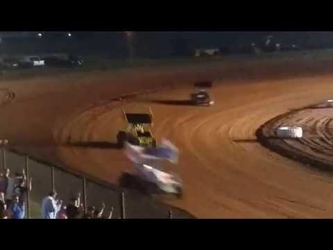 Lawton Speedway OCRS Sprints heat #4 6/4/2016