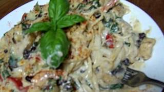 Shrimp, Chicken, Florentine, Fusion Cooking 5/5 Chef John The Ghetto Gourmet Show
