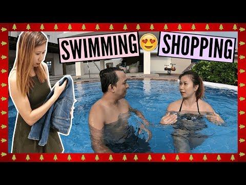 VLOGMAS Day 10: Naligo Sa Swimming Pool + Ouftit Shopping!
