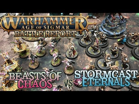 Warhammer: Age Of Sigmar Battle Report Ep 22 - Beasts Of Chaos Vs. Stormcast Eternals