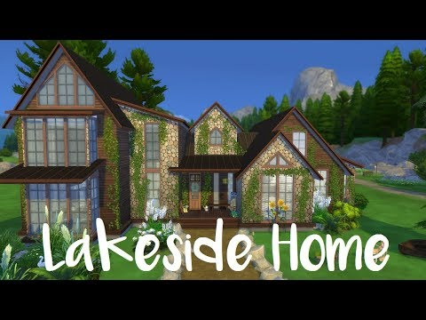 The Sims 4: Speed Build- LAKESIDE HOME + CC List