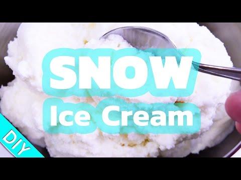 Snow Ice Cream | DIY Tutorial & Recipe - make ice cream with real snow