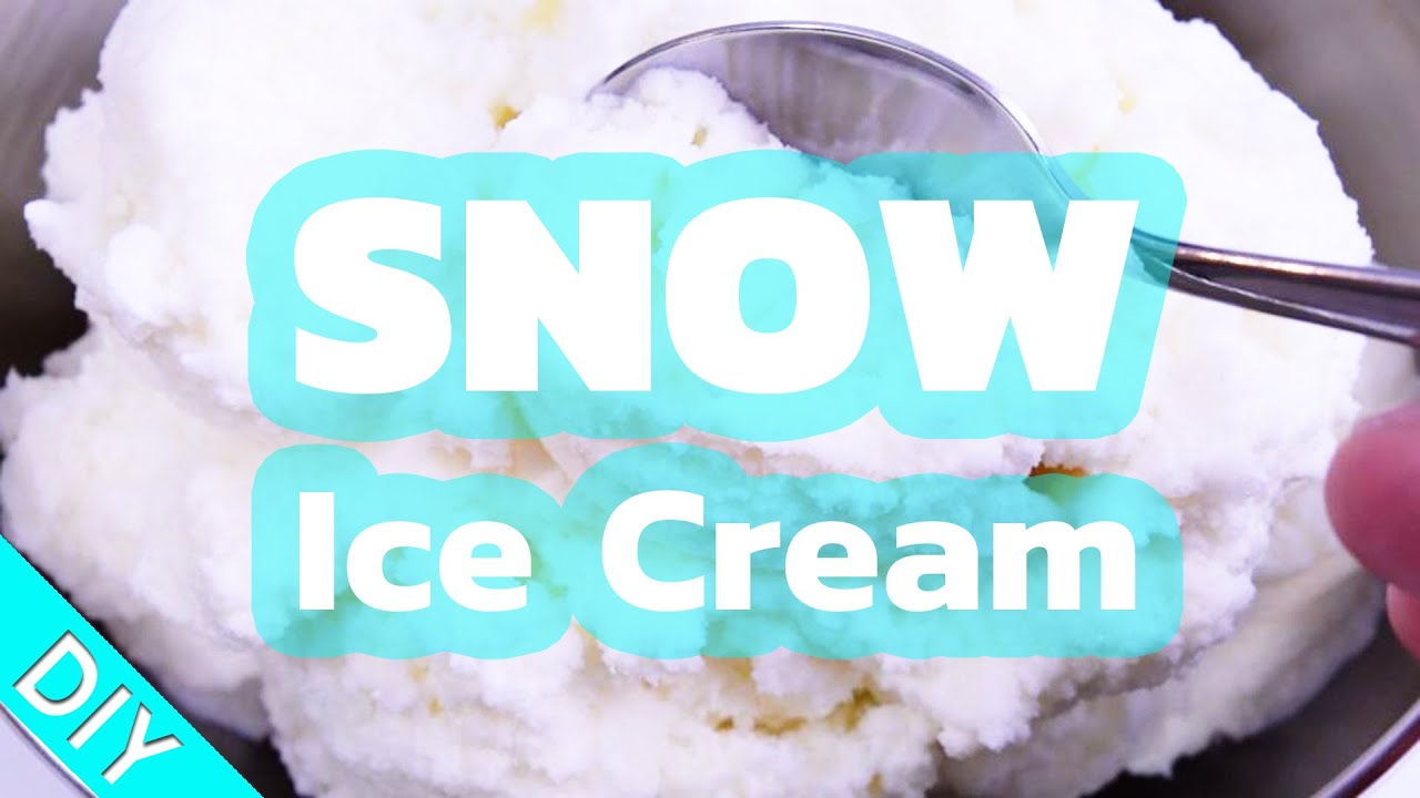 Snow ice cream diy tutorial recipe make ice cream with real snow ice cream diy tutorial recipe make ice cream with real snow ccuart Gallery