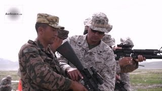 Non-lethal Live Fire - U.S. Marines, Mongolian Armed Forces in NOLES. 1/3