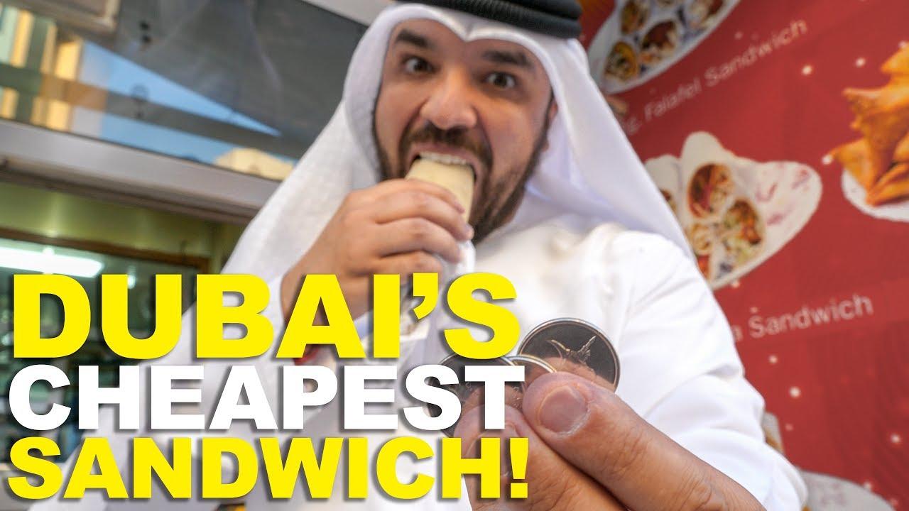DUBAI'S CHEAPEST SANDWICH!