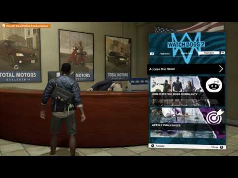 WATCHDOGS 2 USED CAR DEALERSHIP!! BUYING A CAR!!